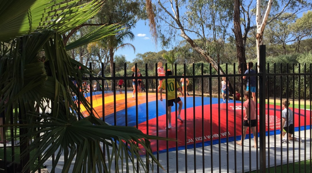 The BIG4 Renmark Riverfront Kangaroo Jumper Has Soft Fall Sand
